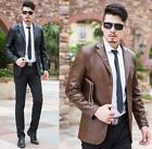 New Men's Leather Coat Blazer Business Jacket Motorcycle Outerwear jacket