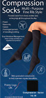 Mens Ladies 1 Pair Fine Rib Style Knee High Compression Flight Travel Sock