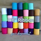 "5 yards 7/8"" Grosgrain Ribbon Wholesale, Lot USA Hair Bows Crafts Weddings"