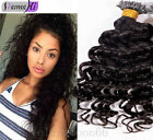 Brazilian I Tip Virgn Human Hair Extensions Deep Curly I Stick Tip Pre-Bonded