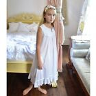 Powell Craft Georgia Girls Nightdress + Gift Box.100% White Cotton. 1-12 Years!