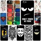 For HTC One A9S Hard Plastic Cover Case Elephant Butterfly Windbell Superman
