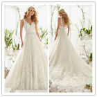 New White/ivory Lace Bridal Gown Wedding Dress Size 6 8 10 12 14 16 18