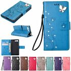 Magnetic Soft Wallet Diamond Leather Flip Card Case Cover For Sony Xperia Phone