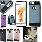 lot 6 Armor Brushed Tough Shockproof Protector case iphone X 5s 6s 7 8 plus slim