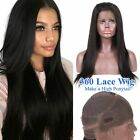 180% Density Peruvian Straight  Virgin Human Hair 360 Lace Front Human Hair Wigs