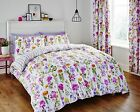 Catherine Lansfield Floral Meadow Pink & Lilac Cotton Rich Duvet Set Bedding