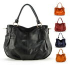 Women Genuine Soft Leather Hobo Tote Bag Shoulder Handbag Purse Casual Satchel