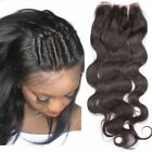 "Lace Frontal  Closure 4""x4"" Body Wave Brazilian Virgin Hair 130% Density Natural"