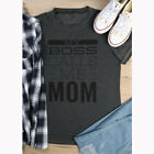 New Fashion Women Summer Letters Printed Casual Blouse T-shirt Top