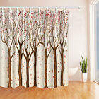 Painted tree Shower Curtain Bedroom Decor Waterproof Fabric & 12 Hooks 71*71inch