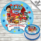 PAW PATROL EDIBLE BIRTHDAY CAKE TOPPER DECORATION PERSONALISED
