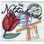 NETHERLANDS STAMP EMBROIDERED PATCH