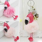 HA Flamingo Unicorn Keychain Keyring Handbag Fur Bag Charm Pendant Girl Decor