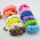 144PC Foam Fake Artificial Rose Flowers Wedding Bride Bouquet Wreath Decor Craft