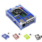 Clear Acrylic Case Shell Enclosure Box +Cooling Fan For Raspberry Pi 3 Model B