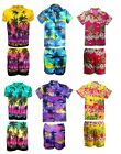 Herren Hawaii-Hemd Herrenabend Strand Hawaii Aloha Party Sommer Urlaub Fancy