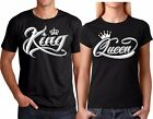 King and Queen NEW VALENTINES Christmas Couple matching funny cute T-Shirts
