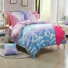 Sky Doona Quilt Duvet Cover Set Single Double Queen King Size Bed Pillowcases