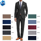Внешний вид - Men's Formal classic Fit 2 piece Suit two button solid color Jacket pants PR02