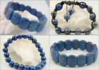 Lapis Lazuli Bracelet - Beaded, Choose your Style: Shamballa, 8 mm, Oblong Beads