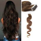 Body Wave Skin Weft  Seamless Tape in  Human Hair Extension Virgin Curly Hair