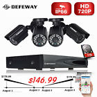 DEFEWAY 4CH HDMI 720P DVR 1500TVL Outdoor CCTV Video Security Camera System 1TB