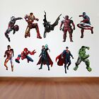 SuperHero Kids Bedroom Vinyl Decal Wall Art Stickers - 10 Characters