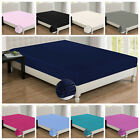 Plain Dyed Fitted Sheets _Polyester_ Bed Sheets Single Double & King Sizes