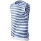 Solid Color T-shirt Sleeveless Slim Tops Round Collar Design Mens Casual Shirt
