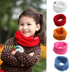 Внешний вид - Children Baby Girl Autumn Winter Knitted Warmer Scarf Neck Scarves Bibs Wrap