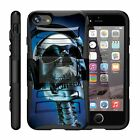 For Apple iPhone Case Cover Rugged Hybrid Holster Belt Clip Armor Skull Case