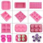 3D Silicone Soap Mould Cake Cookies Candle Mold Ice Cube Craft Baking Tool Tray