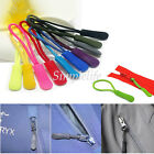 5Pcs Zipper Pulls Slider Cord Rope Puller Ends Lock Zip Clip Buckle For Bag