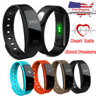 New Blood Pressure Heart Rate Monitor Fitness Smart Watch Bracelet Health Track