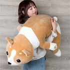 100cm Big Soft Cartoon Corgi Plush Toy 39inches Lying Stuffed Animal Dog Pillow