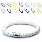 New hand-woven Womens Men Leather Wristband Bracelet Braided Rope Jewelry