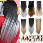 Kyпить 100% Natural Remy Hair Full Head Clip In Ins Hair Extensions as human Synthetic на еВаy.соm