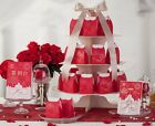 Red wedding favor candy boxes CB005, matching CW005