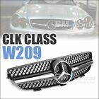 Sport Front Mesh Grill for Mercedes Benz CLK Class W209 2004-2009 AMG *4 VERSION