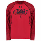 Under Armour Los Angeles Angels Red Apex Print Performance Long Sleeve T-Shirt