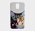Phone Case Cell cover for Iphone Samsung Galaxy Cat 618 gray multicolor L.Dumas