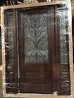 New!!!Wood Iron Door Pre-hung &Finished TMH7501-5 Frosted Glass