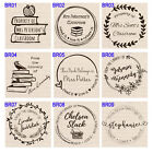 Custom Self Inking teacher book school personalized name pre ink rubber stamp