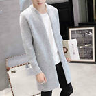 Men's Slim Fit Hooded knit Sweater Fashion Cardigan Trench Long Coat Jacket Mant