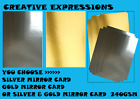 20 x A4 Sheets  MIRROR CARDSTOCK  Creative Expressions Foundations Mirror 240gsm