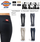 NEW DICKIES GRILS Slim Fit Bootcut Pants N882 Worker Women Uniform NWT-US SELLER
