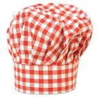 Red Gingham Checkered Cloth Chef Hat - Picnic Barbeque Barbecue BBQ Grilling