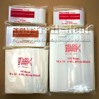 """9 x 12"""" 4Mil White Block Reclosable Resealable Ziplock Poly Plastic Bags Jewelry"""