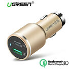 Ugreen USB Car Charger 2 Port Quick Charge 3.0 Dual Fast iPhone 6 5 Samsung Hot